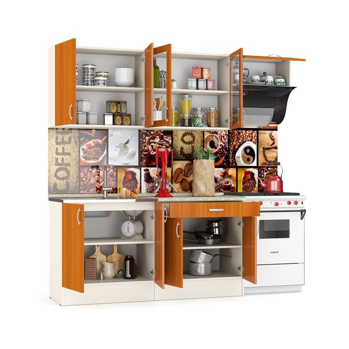 кухня Клер 2.2 (дуб_вишня) (открытый) + наполнение copy