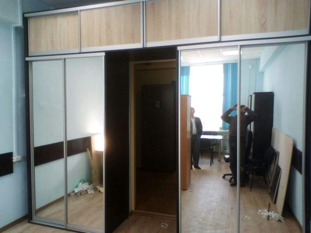 2 шкафа-купе с антресолями над дверным проемом - Мебельная фабрика Адалит