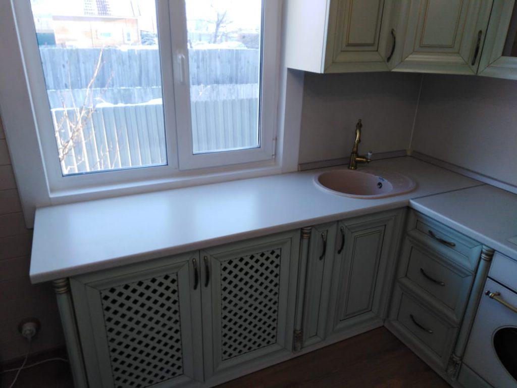 Угловая кухня из массива бука - Мебельная фабрика Адалит