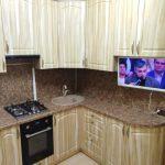 """Угловая кухня """"Слива светлая"""" на заказ - Мебельная фабрика Адалит"""