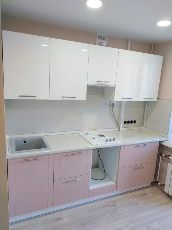 Пыльно-розовый цвет в дизайне кухни - Мебельная фабрика Адалит