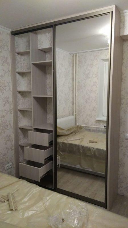 Классический двухдверный шкаф-купе для спальни - Мебельная фабрика Адалит
