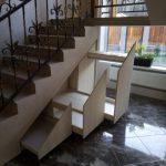Функциональный выдвижной шкаф под лестницей - Мебельная фабрика Адалит