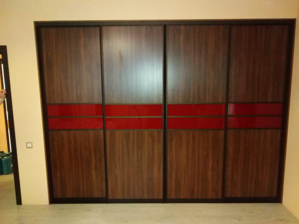 Четыре комбинированные двери купе в проем - Мебельная фабрика Адалит