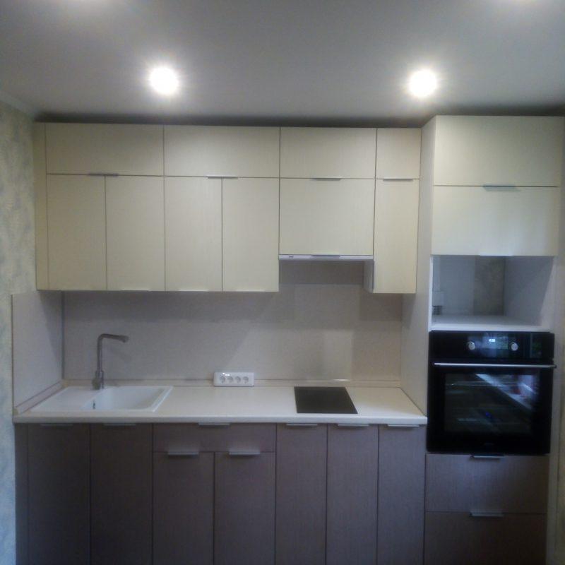 Линейный гарнитур для маленькой кухни - Мебельная фабрика Адалит